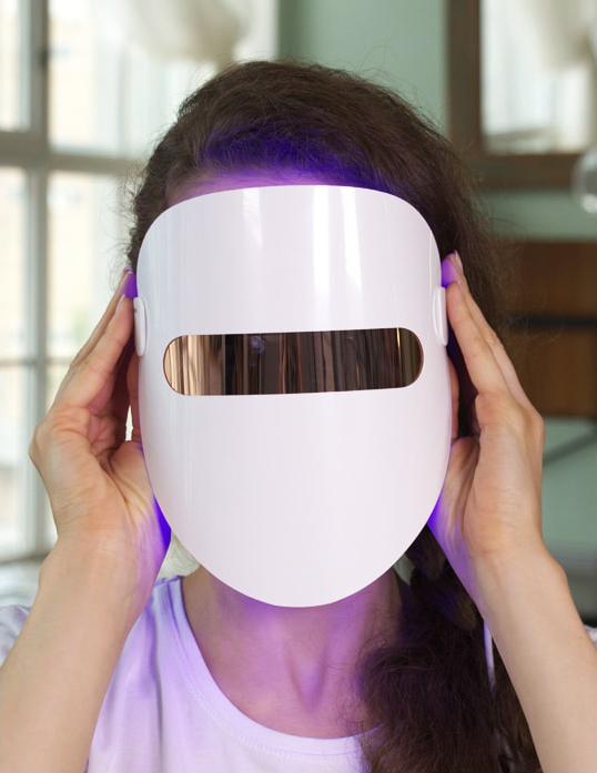 фотодинамическая маска для лица, LED-маска, светодиодная маска, LED blue light